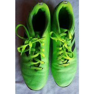 ADIDAS NEMEZIZ SIZE 9 Neon Green SOCCER CLEATS